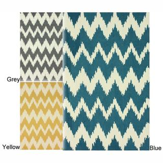 Rugs - Modern Ikat Chevron Rug | Overstock.com - modern ikat chevron rug, gray ikat chevron rug, yellow ikat chevron rug, green ikat chevron rug, chevron rug, ikat rug,