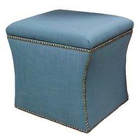 Decor/Accessories - Melbourne Linen Storage Ottoman, Teal - Target - linen storage ottoman, teal ottoman, teal blue ottoman, teal ottoman with nailhead trim,