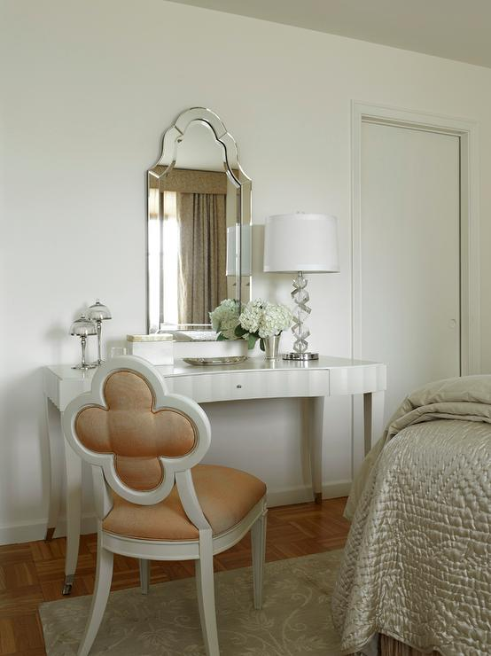 quatrefoil chair contemporary bedroom coddington design