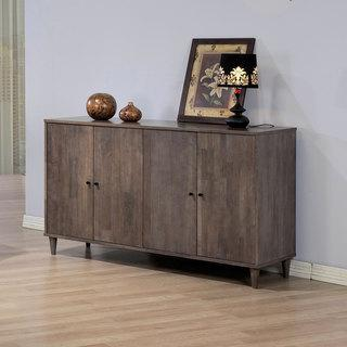 Storage Furniture - Vilas Light Charcoal Grey Buffett | Overstock.com - light gray wood buffet, gray buffet cabinet, gray washed buffet cabinet,