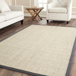 Rugs - Hand-woven Grey Sisal Rug (8' Square) | Overstock.com - gray sisal rug, sisal rug with gray border, sisal rug,