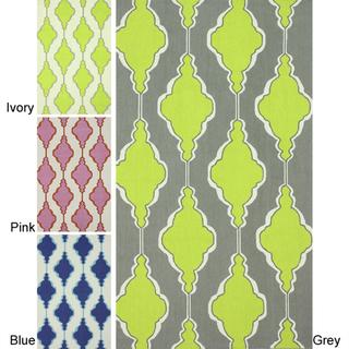 Rugs - Collective Swirls Trellis Wool Rug (5' x 8') | Overstock.com - gray and green trellis rug, blue trellis rug, pink trellis rug, lime green trellis rug,