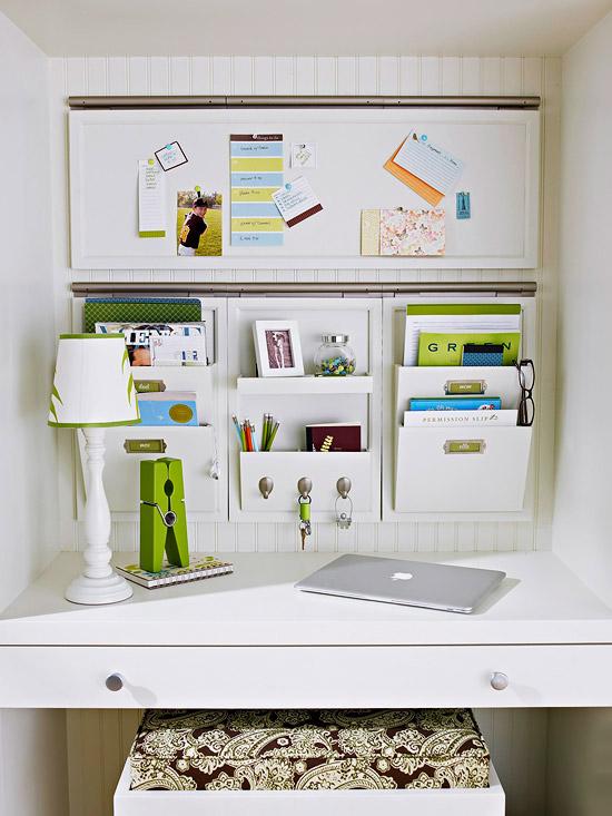 desk wall organizer transitional kitchen bhg