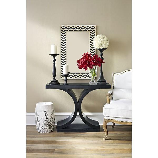 mid century modern console table black wisteria