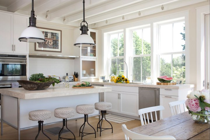 Country Industrial Pendants - Traditional - kitchen - Benjamin