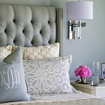 two tone drapes contemporary bedroom new england home