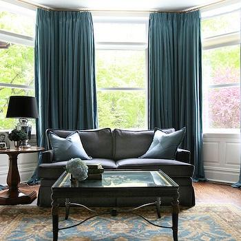 Turquoise Drapes, Transitional, den/library/office, Morgan Harrison Home