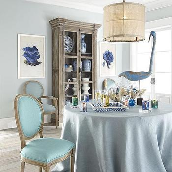 Seating - Louis XVI Dining Chair - Aqua | Wisteria - louis dining chair, aqua louis dining chair, aqua blue dining chair,