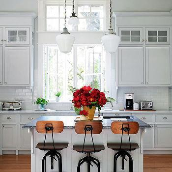 Industrial Bar Stools, Traditional, kitchen, BHG