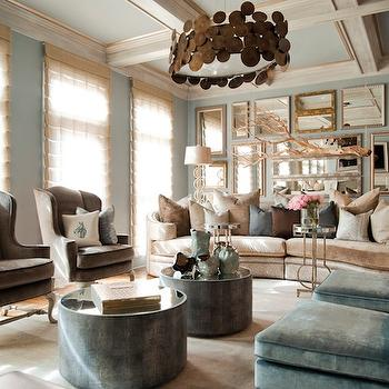 Gallery Mirrors Wall, Eclectic, living room, Smith Boyd Interiors