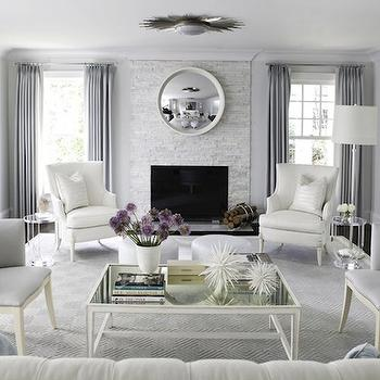 Blue and Gray Living Room, Contemporary, living room, Morgan Harrison Home