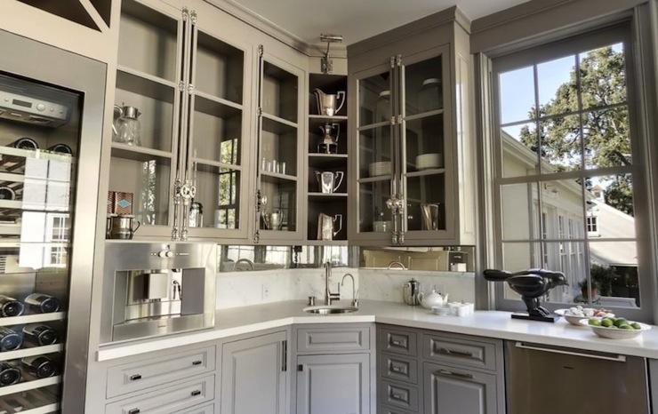 Gray Kitchen Cabinets, Transitional, kitchen, Benjamin Moore Galveston