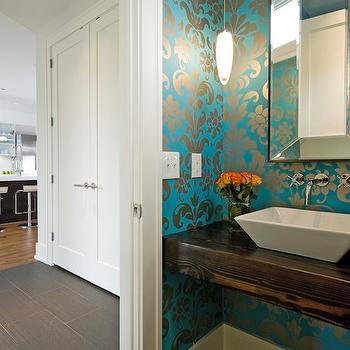 Floating Sink, Eclectic, bathroom, w.b. builders