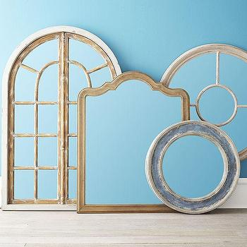 Mirrors - Queen Anne Mirror | Wisteria - carved wood mirror, queen anne mirror, arched mirror,