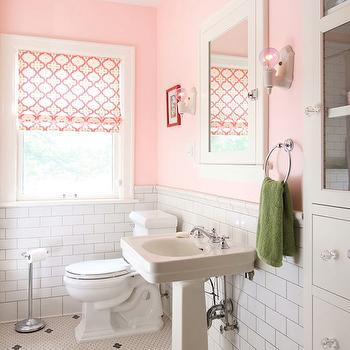 Pink Girl's Bathroom, Contemporary, bathroom, w.b. builders