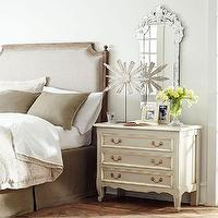 Beds/Headboards - Upholstered Queen Headboard | Wisteria - upholstered headboard, Louis XVI-style headboard, linen headboard, french style headboard, french linen headboard,