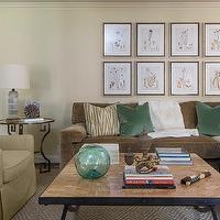 EJ Interiors - living rooms - pillows, wall art, coffee table, coffee table accessories, coffe table, side table, table lamp,  Living Room designed