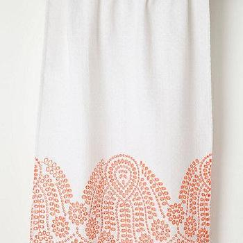 Bath - Half-Shell Hand Towel - Anthropologie.com - embroidered hand towel, coral hand towel, embroidered coral pink hand towel,