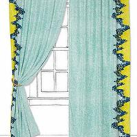 Window Treatments - Fallen Juniper Curtain - Anthropologie.com - silk panel drapes, turquoise silk curtains, turquoise silk drapes,