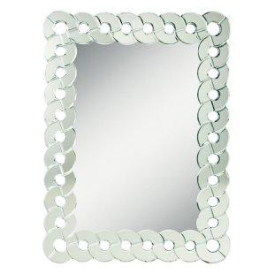 Mirrors - Orbitz Rectangle Wall Mirror - Simply Mirrors - modern rectangular mirror, interlocking circle framed mirror, mirror framed mirror,