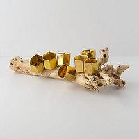 Decor/Accessories - Golden Hive Curio - Anthropologie.com - branch decor, branch candleholder, root candleholder, rustic glam candleholder,