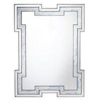 Mirrors - Kichler Shellabella Wall Mirror - Simply Mirrors - modern mirror, mirrored trim mirror, mirror edged mirror, mirror with faux mother of pearl trim,