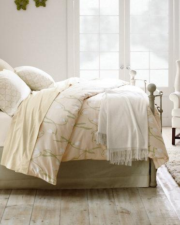 snowdrops supima flannel bedding garnet hill. Black Bedroom Furniture Sets. Home Design Ideas
