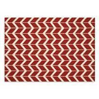 Rugs - coco rugs - chiasso - red geometric rug, red zig zag rug, modern red rug,