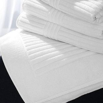 Bath - Frette Bath Towels - Garnet Hill - luxury white bath towels, ribbed border bath towels, white ribbed bath towels,