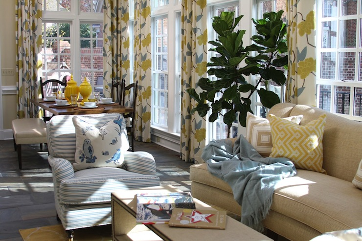 Blue and yellow living room contemporary living room - Blue and yellow living room ...