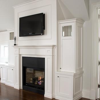 Fireplace TV Built Ins, Traditional, bedroom, Designer Friend