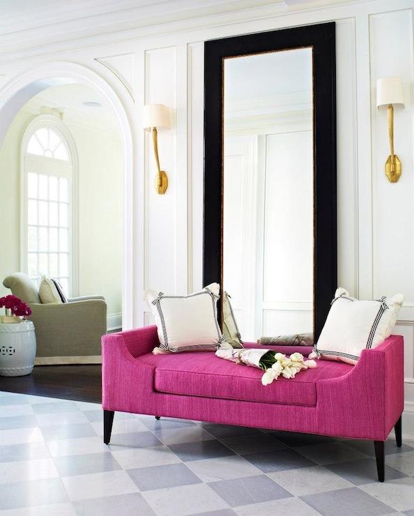 Pink Bench Contemporary Entrance Foyer Mcgill Design Group