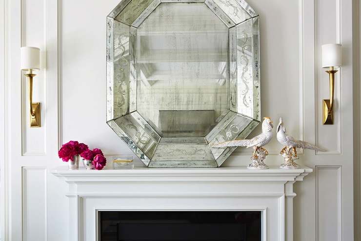 Fireplace Mirror, Contemporary, living room, McGill Design Group