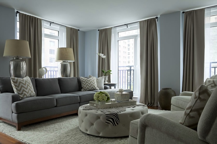 Gray Sofa - Contemporary - living room - The Elegant Abode