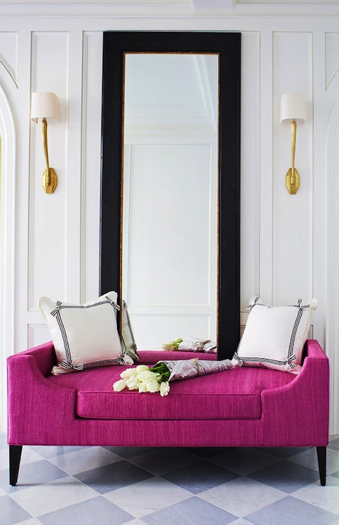Foyer Settee Bed Bench : Pink settee contemporary entrance foyer mcgill