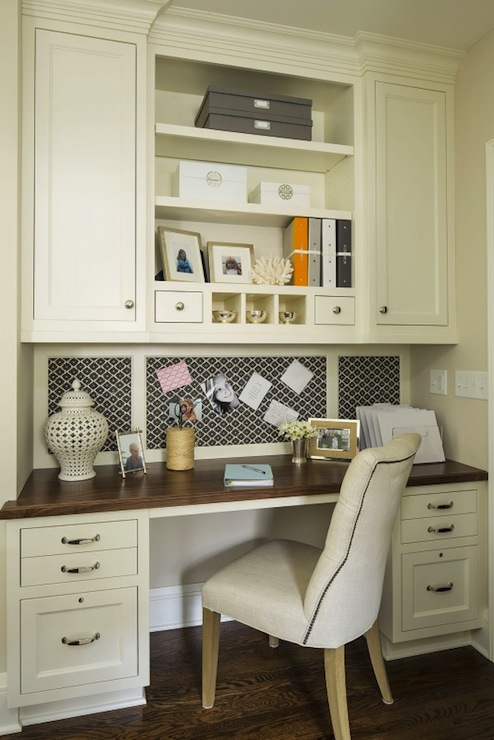 Built In Desk Contemporary Den Library Office Martha