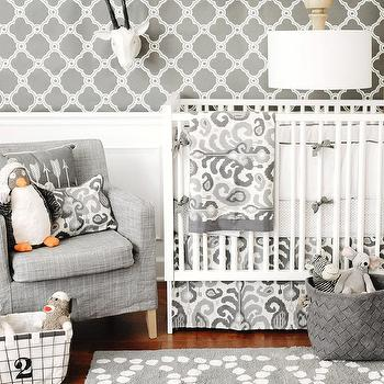 New Arrivals Inc - nurseries - crib bedding, baby bedding, nursery, baby, infant bedding, nursery bedding, gray, ikat, white and gray nursery, white and gray crib bedding, white and gray nursery, white and gray nursery bedding,