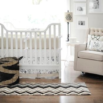 New Arrivals Inc - nurseries - crib bedding, baby bedding, nursery, baby, white, khaki, infant bedding, nursery bedding, baby girl bedding,