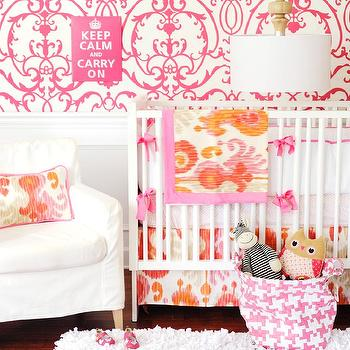 Pink and Orange Nursery, Contemporary, nursery, New Arrivals Inc