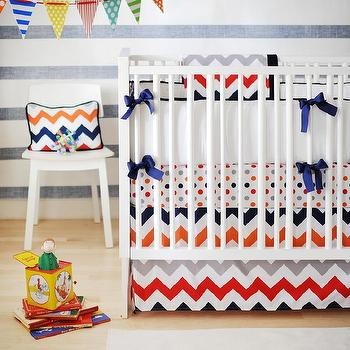 Chevron Nursery Bedding, Contemporary, nursery, New Arrivals Inc