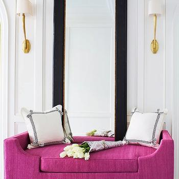 Pink Settee, Contemporary, entrance/foyer, McGill Design Group