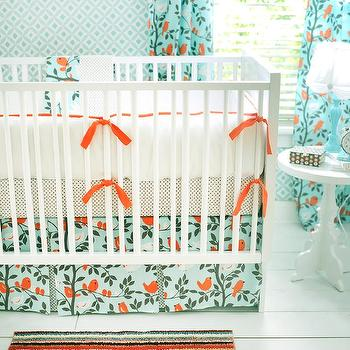 Aqua and Orange Nursery, Transitional, nursery, New Arrivals Inc