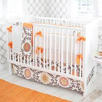New Arrivals Inc - nurseries - crib bedding, baby bedding, nursery, baby, orange, chocolate, infant bedding, nursery bedding, gray and orange nursery, gray and orange nursery design, grey and orange nursery, grey and orange nursery design, gray and orange nursery bedding, grey and orange nursery bedding, gray and orange crib bedding, grey and orange crib bedding,