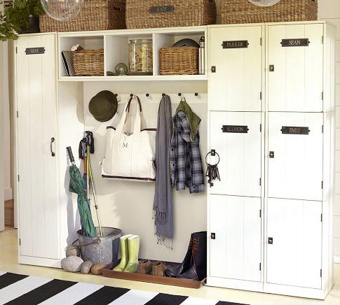 Entryway Storage Locker Homes Decoration Tips