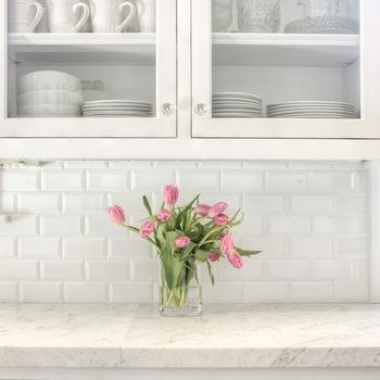 Beveled Subway Tile Backsplash, Traditional, kitchen, Allison Harper Interior Design
