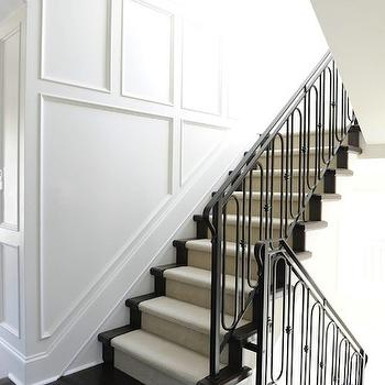 Staircase Wall Millwork, Traditional, entrance/foyer, Kerrisdale Design