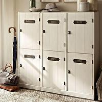 Storage Furniture - Family Entryway Modular Components | Pottery Barn - modular storage, stackable lockers, modular storage system, entryway storage system,
