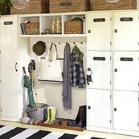 Storage Furniture - Modular Family Locker Entryway System | Pottery Barn - odular family lockers, locker storage, modular storage systems, entryway storage,