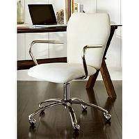 Seating - Airgo Swivel Desk Chair | Pottery Barn - modern desk chair, modern swivel desk chair, swivel desk chair,