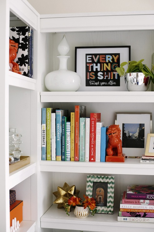 white bookshelves white bookcase bookcase vignette styled bookcase